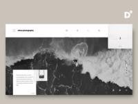 Photography website concept design