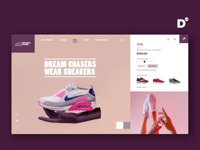 Website Design Concept- Sneakerheads
