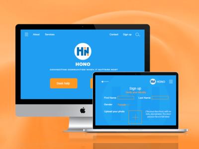 Hono Web Design in Starup Weekend