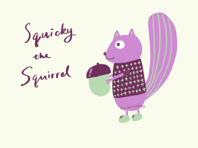 Squicky the Squirrel - Illustration drawing procreate illustration