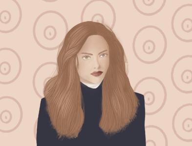Portrait Illustration #1 Amanda procreate vector illustration