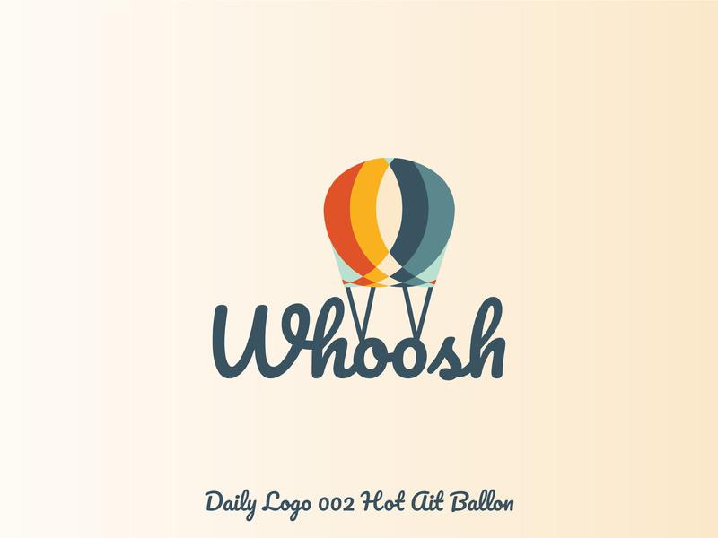 Daily Logo 006 Hot Air Ballon ui design challenge whoosh ballon hot air ballon uidesign illustration daily logo design daily logo 006 daily logo challenge vector logo ui  ux ui