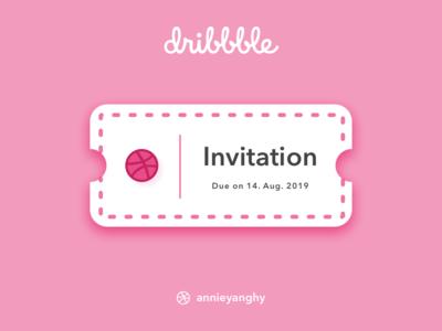 Dribbble Invite Contest by Annie dribbble invites invite ticket dribbble invite
