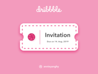 Dribbble Invite Contest by Annie
