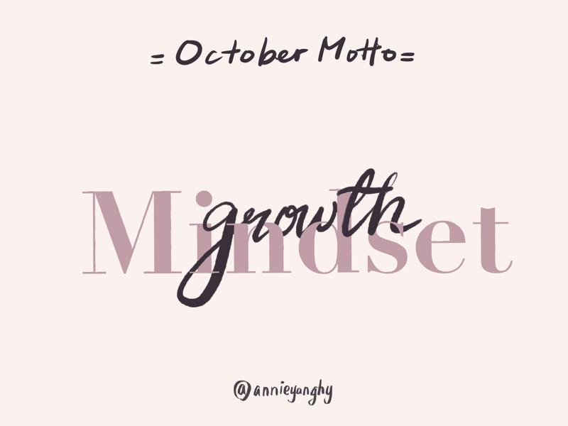 Growth Mindset brush lettering procreate calligraphy
