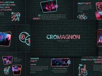 Cromagnon - Neon Presentation club night unique presentation nightlife jazz night party neon font neon icon neon style free presentation neon presentation