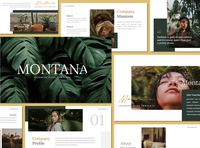 Montana - Presentation Template fashion google slides keynote powerpoint leaf lookbook presentation free presentation modern lookbook free template freebies