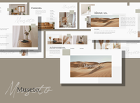 Musetto - Presentation Template minimal google slides beige free template free presentation freebies lookbook keynote powerpoint