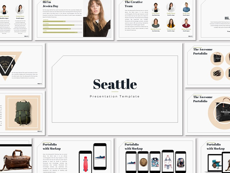 Seattle - Presentation Template free template fashion trending popular world map keynote powerpoint lookbook presentation template creative freebies