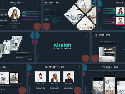 Kitulah - Presentation Template poppins chart unique portofolio popular trending creative keynote powerpoint pitchdeck free template freebies
