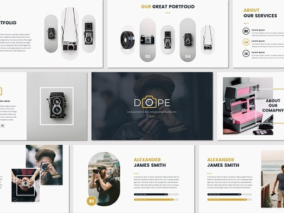 DOPE - Presentation Template poppins chart clean unique portofolio google slides creative keynote powerpoint pitchdeck free template freebies