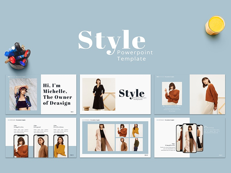Style - Presentation Template presentation template keynote modern fashion clean freebies free template lookbook creative powerpoint