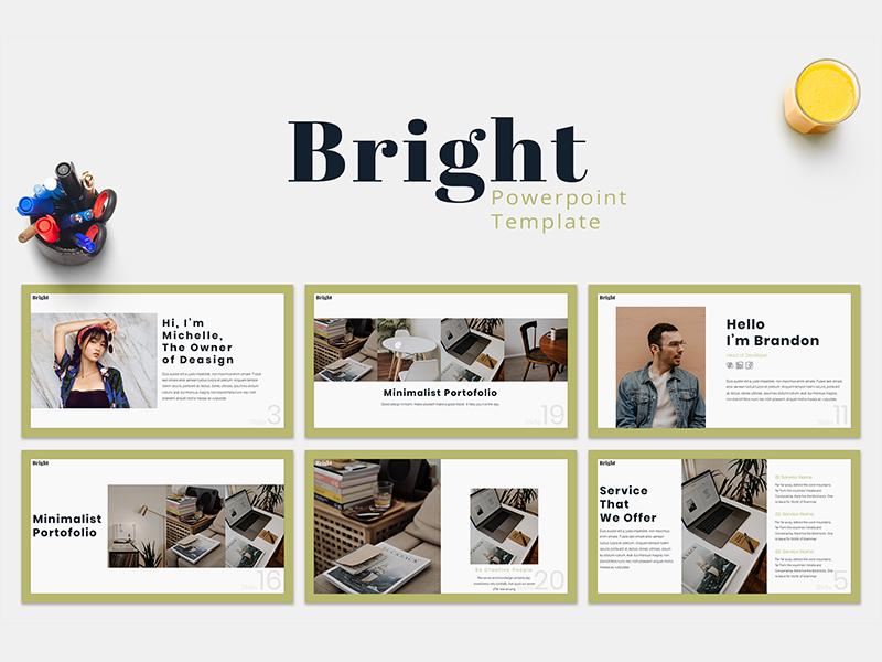 Bright - Presentation Template by Dea Zulvi Alfindani on
