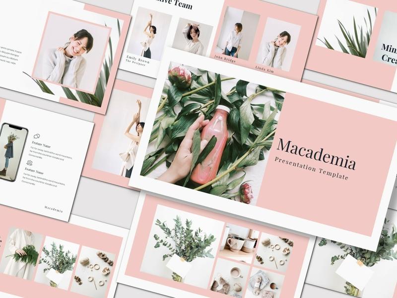 Macademia - Presentation Template clean fashion creative simple modern free powerpoint keynote lookbook free template freebies