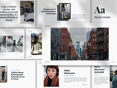 Brookly - Presentation Template keynote catalogue modern creative free presentation fashion lookbook powerpoint free template freebies
