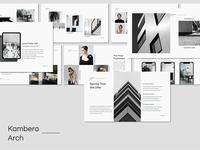 Kambera - Presentation Template free presentation modern google slides keynote powerpoint architecture minimalist presentation minimal presentation freebies