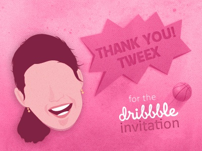 Dribbble Thanks Tweex dribbble invite