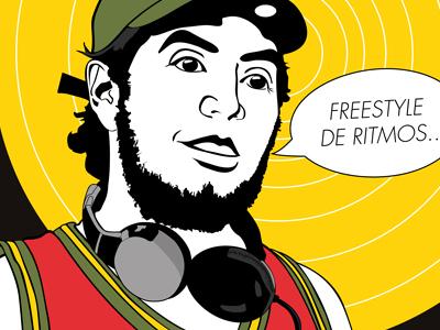 """""""El Hijo de la Cumbia"""" Artwork cumbia illustration artwork ya basta records"""