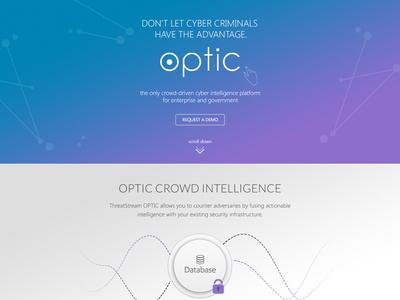 Optic Homepage website design simple clean