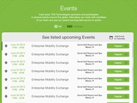 Event interface