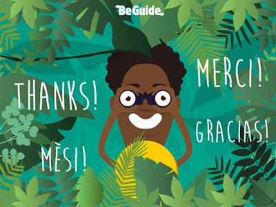 BeGuide Mascotte caribbean nature tropical exploration mascotte