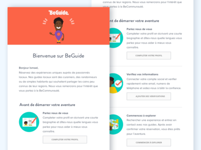 BeGuide Email webdesign ui welcome layout beguide illustration email