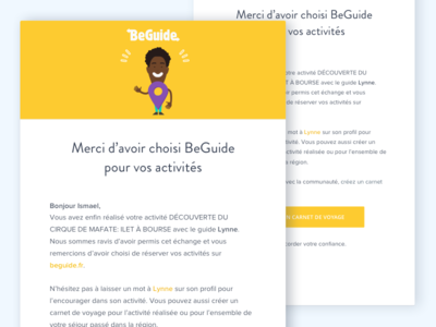 BeGuide mailing welcome webdesign ui layout illustration email beguide