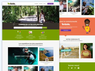 Beguide Website ui website layout beguide community travel responsive branding