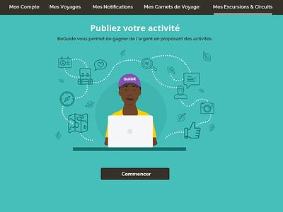 Beguide Website Details website ui travel responsive layout community branding illustration beguide