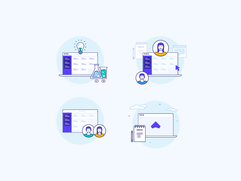 Illustration Experiment ux icons design branding vector ui illustration