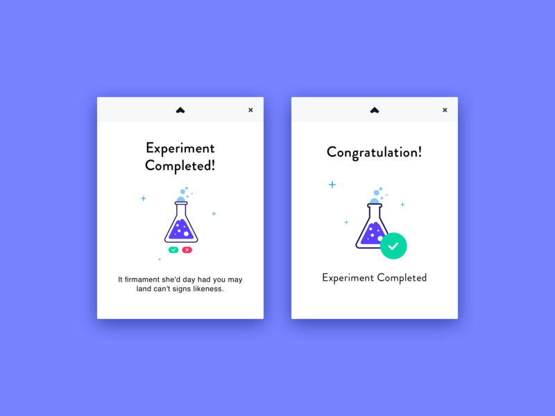 Experiment Popup icon navigation interface app vector icons layout design branding ui illustration