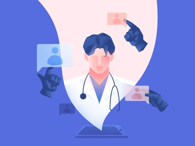 The doctor assistant assistant branding 医生 design treatment doctor ui vector illustration