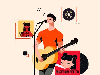 Sing a song branding design illustration