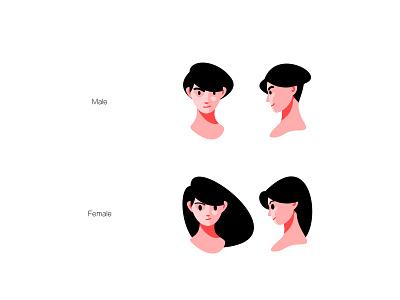 male and female design female male vector illustration