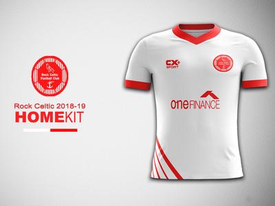 Rock Celtic Home Kit Concept football kit branding kit rock celtic jersey concept kit concept kit design