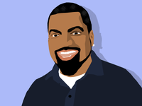 Ice Cube Illustration