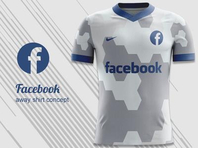 Facebook FC Away Kit Concept nike concept nike kit design football shirt kit concept jersey concept football kit concept football kit facebook fc facebook
