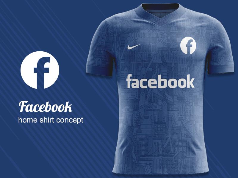 huge selection of dcd89 18c02 Facebook FC Home Kit Concept kit design nike concept nike kit concept  jersey concept football shirt