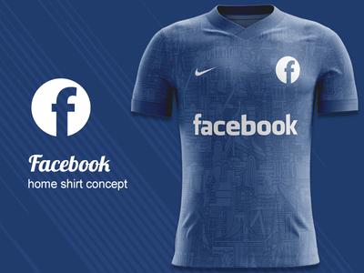 Facebook FC Home Kit Concept kit design nike concept nike kit concept jersey concept football shirt football kit concept football kit facebook fc facebook
