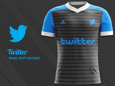 Twitter FC Away Kit Concept twitter fc twitter kit design kit concept jersey concept football kit concept football kit mockup football kit adidas concept adidas