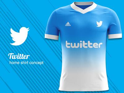 Twitter FC Home Kit Concept twitter fc twitter kit concept kit design jersey concept football kit mockup football kit concept football kit adidas concept adidas
