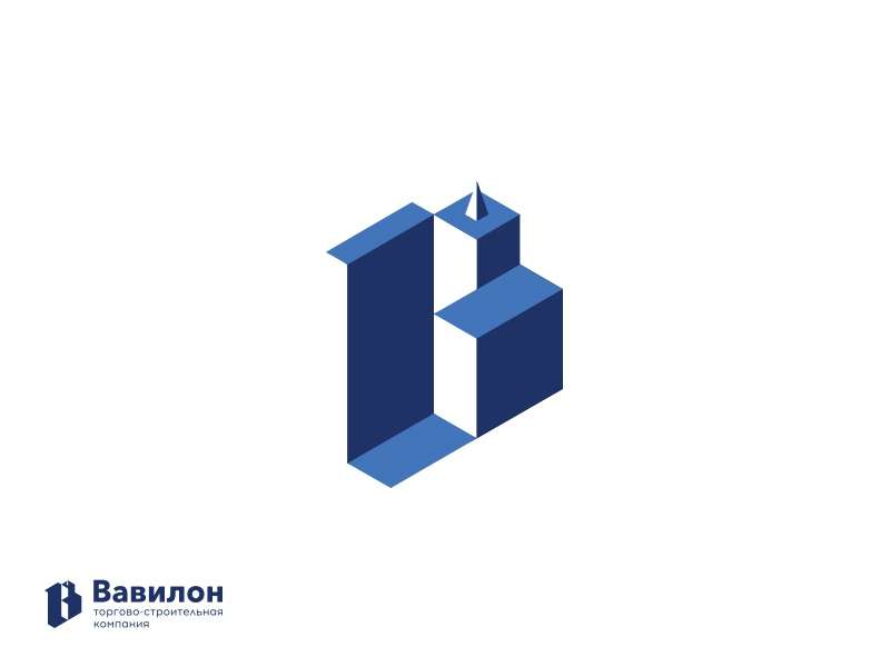 Babylon commercial construction company babylon symbol monogram mark logotype logo identity emblem