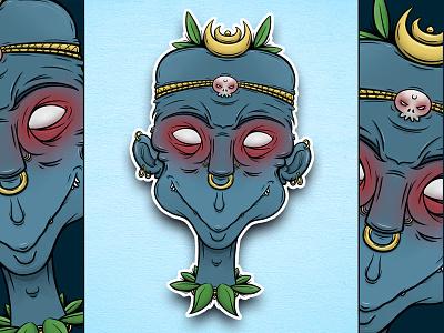 STICKER #1 - Shaman art digital clip studio paint sticker design illustration