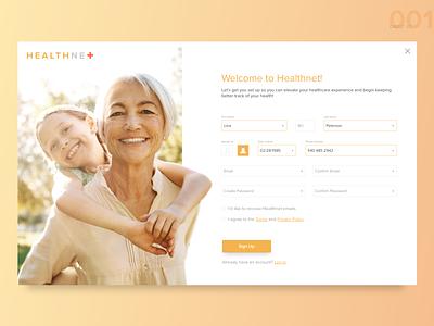 DailyUI001 form health sign up 001 dailyui web ux ui design