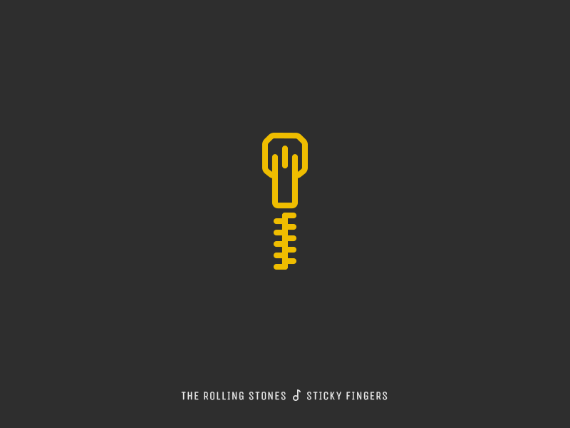 Icon Cover (The Rolling Stones, Sticky Fingers) by Evgeny