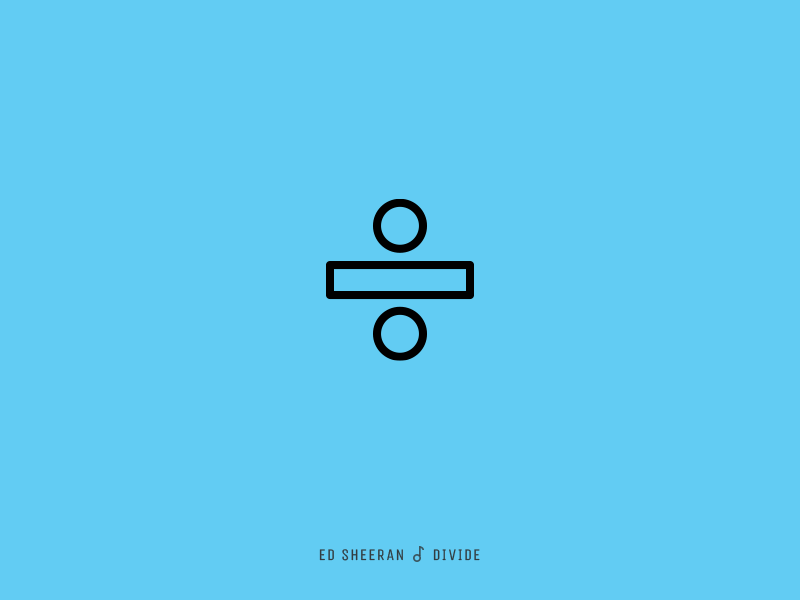 Icon Cover (Ed Sheeran, Divide) by Evgeny Filatov on Dribbble