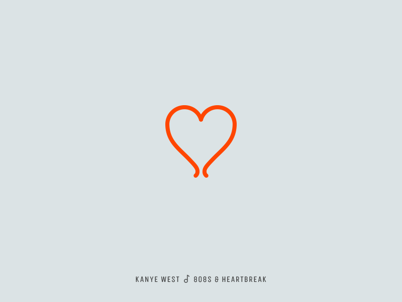 Icon Cover Kanye West 808s Heartbreak Balloon Heart Album