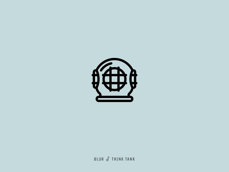 Icon Cover (Blur, Think Tank) helmet three bolt blur icon album cover