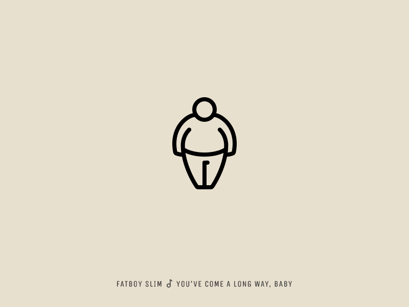 Icon Cover (Fatboy Slim, You've Come a Long Way, Baby) fatboy slim fat man icon albom cover