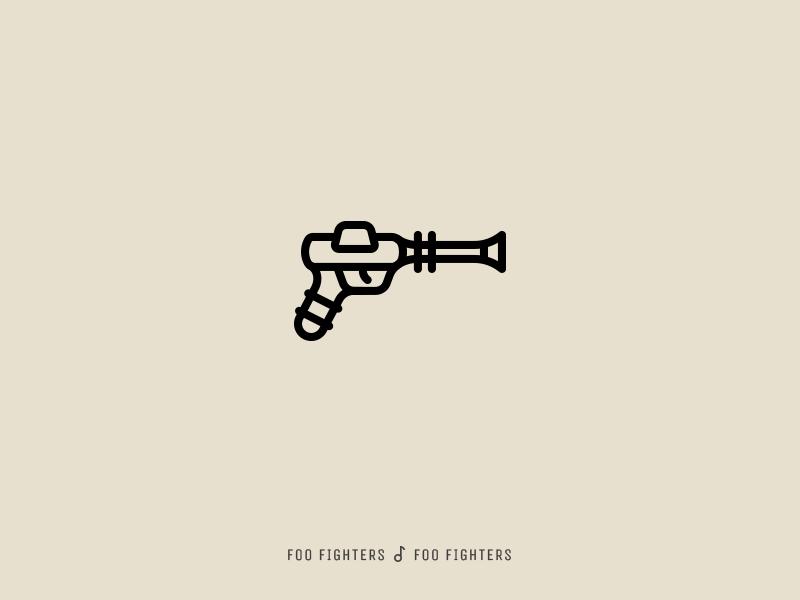 Icon Cover (Foo Fighters, Foo Fighters) gun icon album cover
